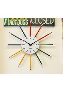 Relógio De Parede Lápis Ii