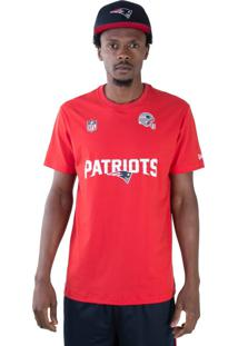 T-Shirt New Era Regular New England Patriots Vermelho