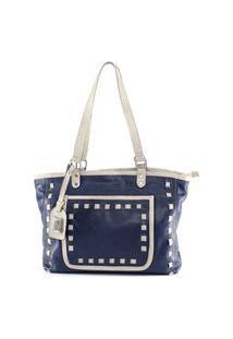 Bolsa De Couro Ágata Azul