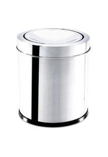 Lixeira Basculante Em Aço Inox 5,4 Litros Prata - Brinox