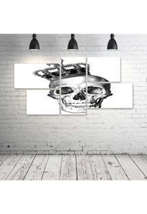 Quadro Decorativo - King-Skull-(2) - Composto De 5 Quadros