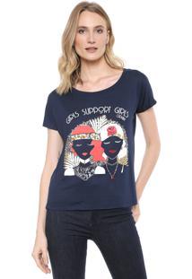 Camiseta Carmim Girls Azul-Marinho