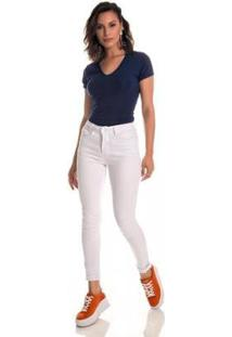 Calça Jeans Express Skinny Ceci Branca - Feminino