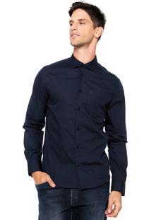 Camisa Forum Lisa Azul