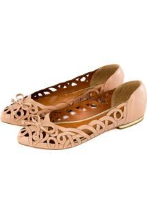 Sapatilha Alta Villa Shoes Bico Fino Rosê