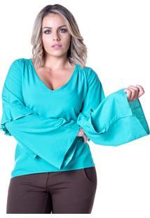 Blusa Em Viscose Meiruxa Azul