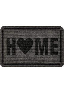 Capacho Carpet Home Cinza Único Love Decor