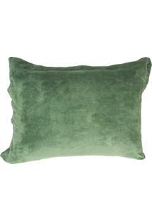 Porta Travesseiro 50X70Cm Fleece Andreza Verde