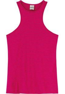 Blusa Rosa Escuro Nadador Listrada