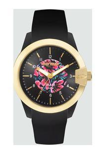 Relógio Feminino Floral Mormaii Mo2036Ii8P