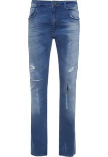 Calça Masculina Skinny San Antonio 3D - Azul