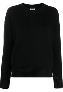 Kenzo Suéter De Tricô Com Logo - Preto