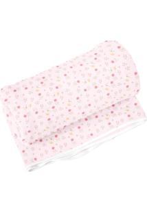 Cobertor Floral- Rosa Claro & Rosa- 90X110Cm- 99Papi