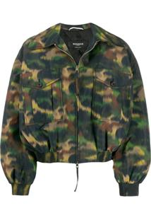 Rochas Camouflage Print Jacket - Verde