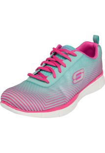 Tênis Skechers Equalizer Expect Miracles Verde/Rosa
