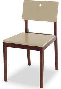Cadeira Flip Cor Cacau Com Bege - 30820 Sun House