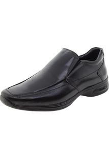 Sapato Masculino Social 3D Preto/Liso Jota Pe - 30002