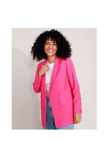 Blazer Alongado Pink