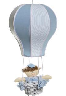 Lustre Balão Cintura Quarto Bebê Infantil Menino Potinho De Mel Azul