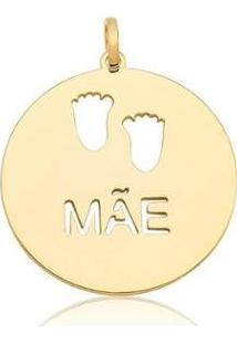 Pingente Estelle Semijoias Pezinho Mãe Banhado Ouro 18K Feminino - Feminino-Dourado