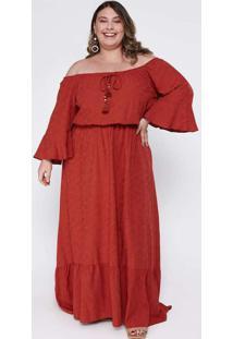 Vestido Almaria Plus Size Tal Qual Longo Ombro A O
