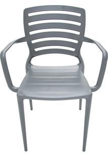 Cadeira Sofia Vazada Horizontal Grafite - Tramontina