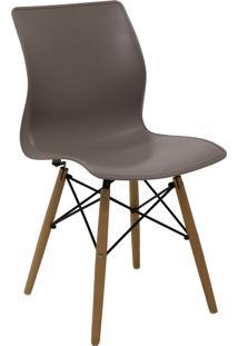 Cadeira Tramontina 92066110 Maja Unicolor Summa Com Base 3D Camurça