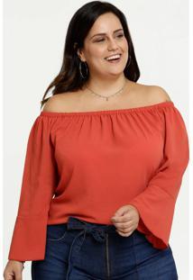 Blusa Feminina Ombro A Ombro Crepe Plus Size Marisa