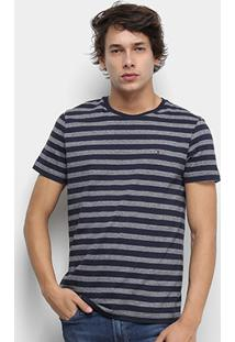 Camiseta Tommy Hilfiger Essencial Heather Masculina - Masculino-Azul