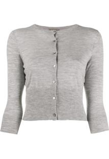 N.Peal Cashmere Cropped Cardigan - Cinza