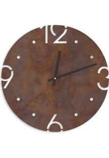 Relógio De Parede Premium Corten Com Números Vazados 50Cm Grande