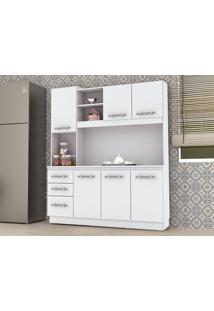 Cozinha Compacta 7 Portas Caiena Branco – Lc Móveis
