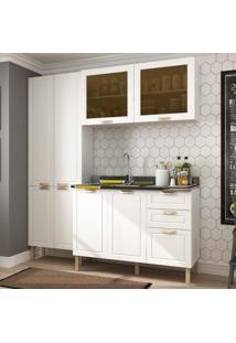 Cozinha Completa 3 Peã§As Americana Multimã³Veis 5673 Branco - Branco/Incolor - Dafiti
