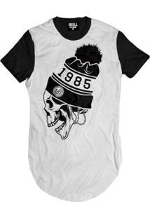 Camiseta Longline Caveira 1985 Masculina - Masculino
