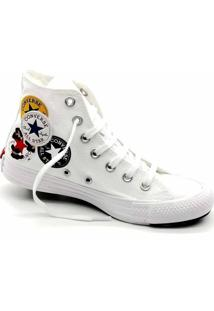 Tênis Converse All Star Chuck Taylor Logo Play Hi Branco Azul Ct13230002 - Kanui