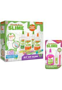 Kit De Acessórios - Faça Seu Slime - Nickelodeon - Colorido E 1 Cartela Rosa - Toyng
