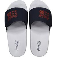 d1880411a Chinelo Coca Cola Slide Velcro 86 Star - Masculino Netshoes