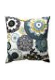 Capa Para Almofada Tecido Belize Estampada Floral D24 45X45 - Drossi