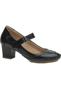 Scarpin Couro Doctor Shoes Feminino - Feminino-Preto