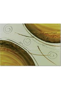 Quadro Artesanal Com Textura Abstrato Amarelo 70X100 Uniart