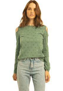 T-Shirt Nogah Folhas Verde - Verde - Feminino - Algodã£O - Dafiti