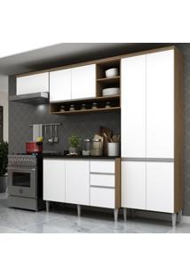 Cozinha Completa Multimóveis Suíça 5195Ml - Com Balcão 10 Portas 2 Gavetas