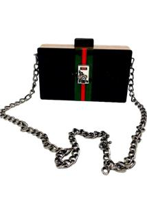 Bolsa La Madame Co Clutch Design Front Black