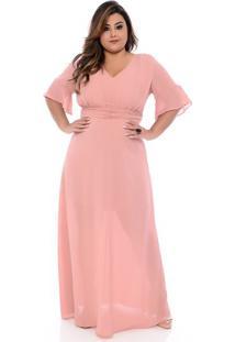Vestido De Crepe Plus Size