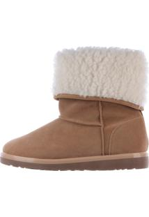 Bota De Pelos Damannu Shoes Bege/Branco