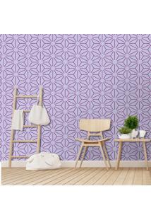 Papel De Parede Flor Line Purple