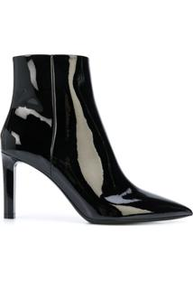 Saint Laurent Ankle Boot Kate Com Salto 85Mm - Preto