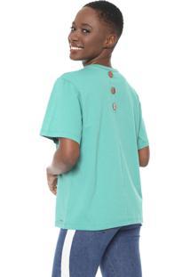 Camiseta Colcci Botões Verde
