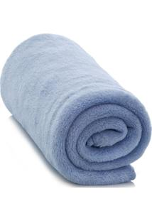 Cobertor Infantil Baby Liso Azul