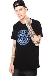 Camiseta Element Tie Dye Fill Preta